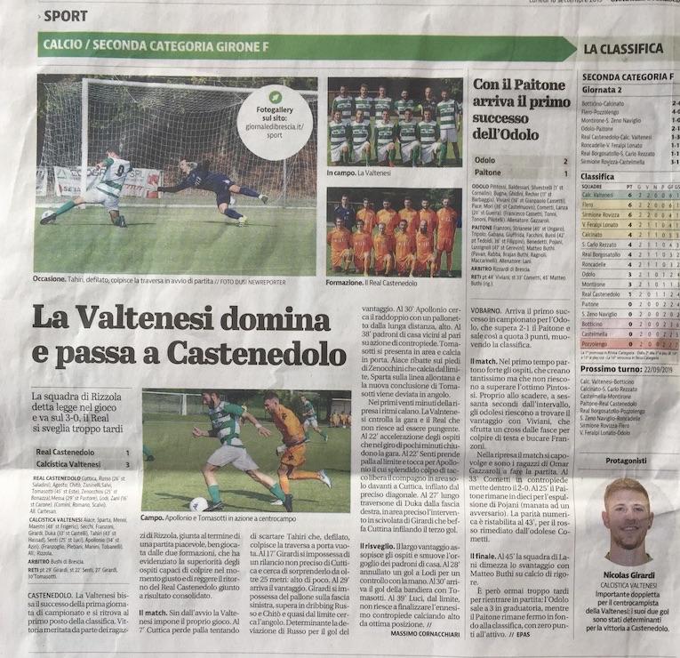 16 Settembre 2019 Giornale di Brescia