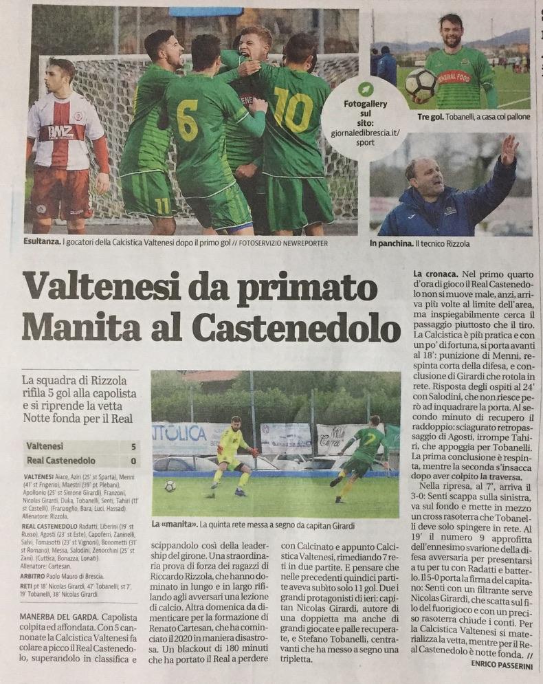 Giornale Di Brescia 20 Gennaio