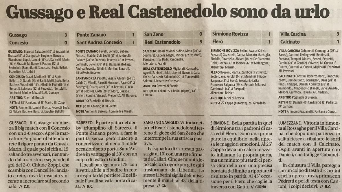 Giornale di Brescia 12 Ottobre